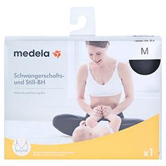 MEDELA Schwangerschafts- u.Still-BH M schwarz 1 Stück - Vorderseite