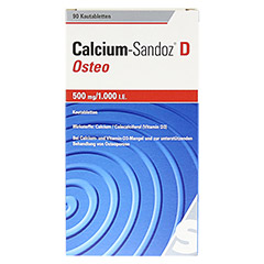 Calcium-Sandoz D Osteo 500mg/1000I.E. 90 Stück - Vorderseite