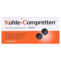 Kohle-Compretten 30 Stück - Vorderseite