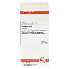 BRYONIA D 30 Tabletten 200 Stück - Vorderseite
