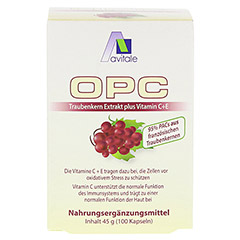 Avitale OPC Traubenkern Extrakt 100 Stück - Vorderseite