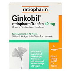 GINKOBIL ratiopharm 40mg 200 Milliliter N2 - Vorderseite