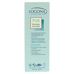 LOGONA PUR Shampoo & Duschgel 250 Milliliter - Vorderseite