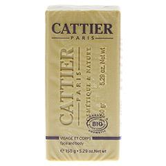 CATTIER Heilerde Seife normale bis Mischhaut 150 Gramm - Rückseite