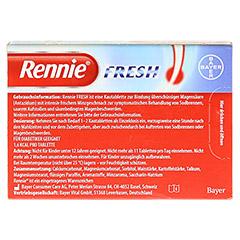 Rennie Fresh zuckerfrei 48 Stück - Rückseite