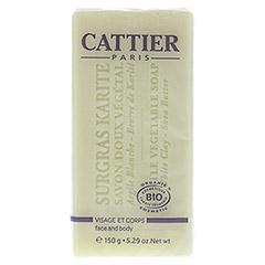 CATTIER Heilerde Seife trockene und sensible Haut 150 Gramm - Rückseite