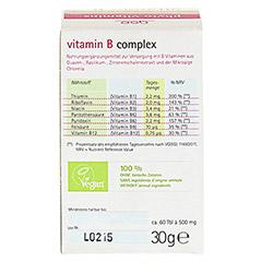 VITAMIN B complex Bio Tabletten 60 Stück - Rückseite