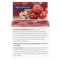 LAVERA regenerierende Nachtpflege Cranberry Creme 50 Milliliter - Rückseite