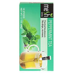 MESH stick Pfefferminz Tee 16 Stück - Rückseite