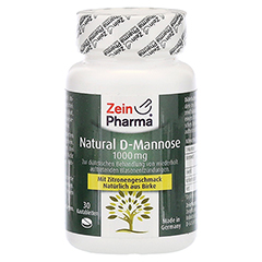 NATURAL D-Mannose Kautabletten 30 Stück