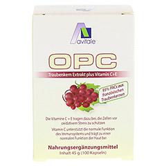 Avitale OPC Traubenkern Extrakt 100 Stück - Rückseite