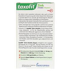 TAXOFIT Zink+Histidin mit Vitamin C Tabletten 40 Stück - Rückseite