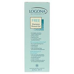 LOGONA Pur Shampoo & Duschgel 250 Milliliter - Rückseite