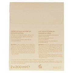 CATTIER Geschenkpackung Mandel Quitte 2x200 Milliliter - Rückseite
