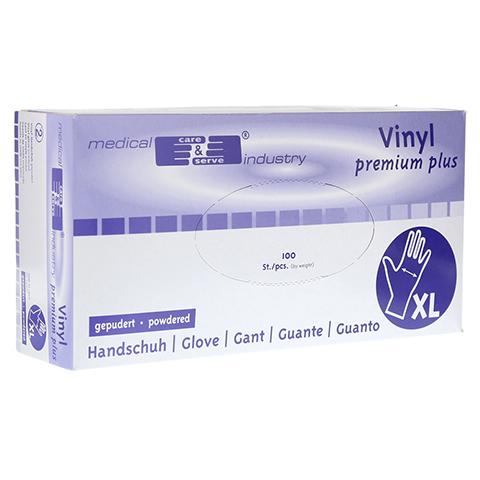 HANDSCHUHE Vinyl unsteril leicht gepudert Gr.XL 100 Stück