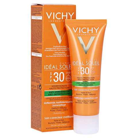 VICHY IDEAL Soleil Anti-Unreinheiten LSF 30 50 Milliliter