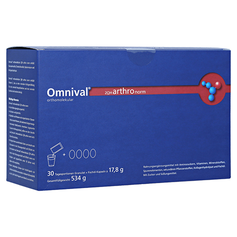 OMNIVAL orthomolekul.2OH arthro norm 30Gran.Kap. 1 Packung