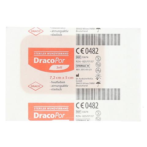 DRACOPOR Wundverband 5x7,2 cm steril hautfarben 1 Stück
