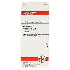 MELILOTUS OFFICINALIS D 4 Tabletten 80 Stück N1 - Vorderseite