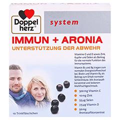 DOPPELHERZ Immun+Aronia system Ampullen 10 Stück - Vorderseite