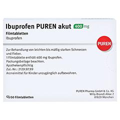 Ibuprofen PUREN akut 400mg 50 Stück N3 - Rückseite