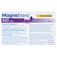 MAGNETRANS duo-aktiv 400 mg Tabletten 20 Stück - Rückseite