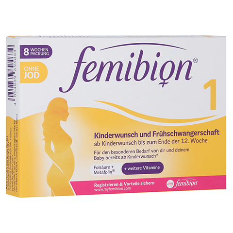 FEMIBION 1 Kinderwunsch+Frühschwangers.o.Jod Tabl. 60 Stück