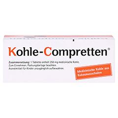 Kohle-Compretten 60 Stück - Oberseite