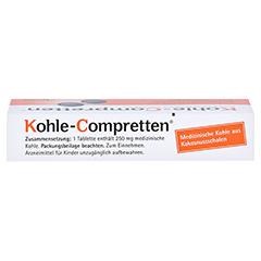 Kohle-Compretten 30 Stück - Oberseite