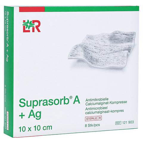 SUPRASORB A+Ag Antimik.Cal.Alginat Kompr.10x10 cm 8 Stück
