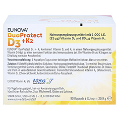 EUNOVA DuoProtect D3+K2 1.000 I.E./80 µg Kps.Kombi 2x90 Stück - Rückseite