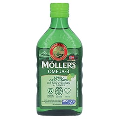 MÖLLER'S Omega-3 Apfelgeschmack Öl 250 Milliliter