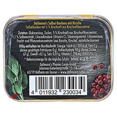 DALLMANN'S Salbei sanfte Kirsche Bonbons Dose 46 Gramm - Rückseite