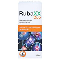 RUBAXX Duo Tropfen zum Einnehmen 10 Milliliter - Vorderseite
