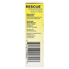 BACHBLÜTEN Original Rescue Alkohol Tropfen 20 Milliliter - Linke Seite