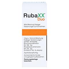 RUBAXX Duo Tropfen zum Einnehmen 30 Milliliter - Rückseite