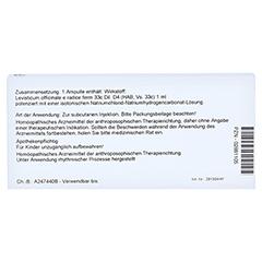 LEVISTICUM E radice D 4 Ampullen 10x1 Milliliter N1 - Rückseite