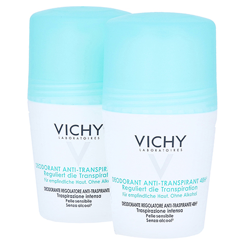 Vichy Deo Anti-Transpirant Roll-on 48h - Doppelpack 2x50 Milliliter