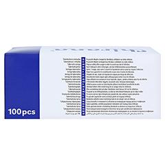 TUBERKULINSPRITZE 1 ml ohne Kanüle Dahlhausen 100 Stück - Rückseite