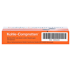 Kohle-Compretten 30 Stück - Unterseite