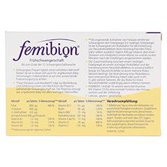 FEMIBION Schwangerschaft 1 D3+800 µg Folat o.Jod 60 Stück - Rückseite