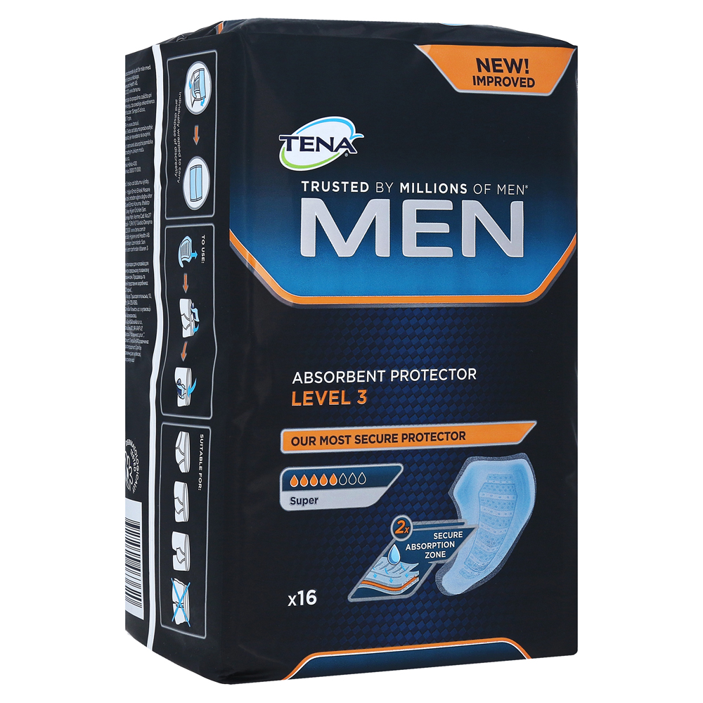 c107090bbc344 TENA MEN Level 3 Einlagen 16 Stück online bestellen - medpex ...