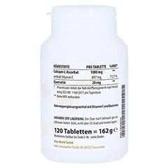 VITAMIN C 1000 gepuffert+Quercetin Tabletten 120 Stück - Linke Seite