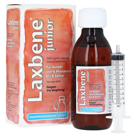 LAXBENE junior 500 mg/ml Lösung z.Einn.Kdr.6M-8J 200 Milliliter