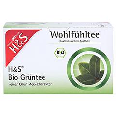 H&S Bio Grüntee Filterbeutel 20 Stück - Vorderseite