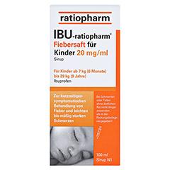 IBU-ratiopharm Fiebersaft für Kinder 20mg/ml 100 Milliliter N1 - Vorderseite