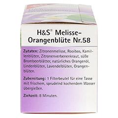 H&S Melisse Orangenblüte Filterbeutel 20x2.0 Gramm - Linke Seite