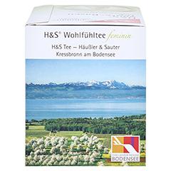 H&S Wohlfühltee feminin Säuren Basen Tee Fbtl. 20x1.8 Gramm - Rechte Seite