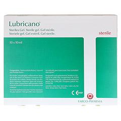 LUBRICANO steriles Gel 10x10 Milliliter - Rückseite