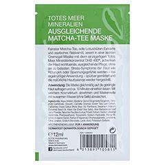 DERMASEL Maske Matcha Tee ausgleichend 12 Milliliter - Rückseite